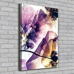 Details Zu Leinwand Bild Kunstdruck Hochformat 70x100 Bilder Mohnblumen