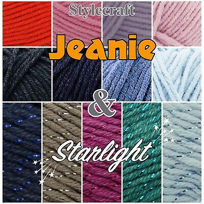 Stylecraft Jeanie Knitting Yarn Aran 7102 Bloom per 100 gram ball