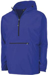Lightweight Hooded Quarter Zip Windbreaker Monogrammed Quarter Zip Pullover Jacket Gray Pack-N-Go Personalized Adult Unisex Raincoat