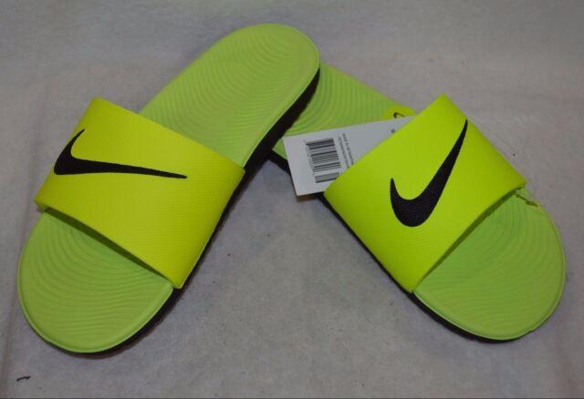 85f7430a66bb3 Nike Boys Kawa Volt Black Slide Sandal (GS PS)-Size 11 12 13 1 2 NWB ...