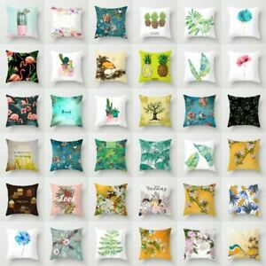 Home-Decor-Polyester-Flower-amp-Plants-Pillow-Case-Sofa-Car-Throw-Cushion-Cover