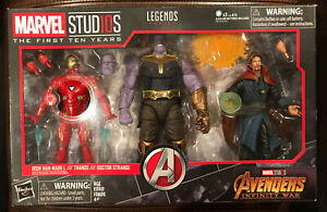 Marvel Legends First Ten Years Thanos, Iron Man, Dr. Strange Infinity War 3 Pack