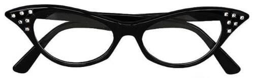 especificaciones señoras vestido de fantasía Accesorio Greaser 1950s Gafas de mujer negro