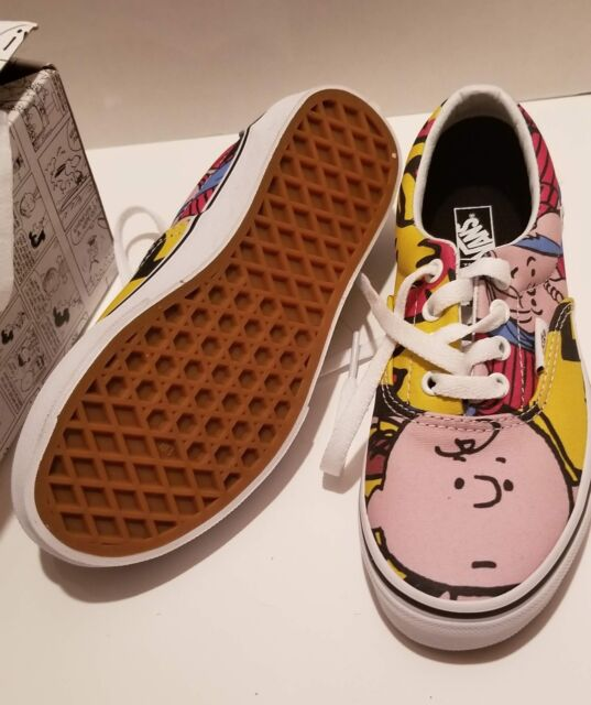 23bf7f8e71 Kids VANS Size 1 Peanuts Charlie Brown Snoopy Woodstock Linus Youth Shoes