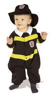 Lil' Firefighter Fireman Black Dress Up Halloween Baby Infant Child Costume