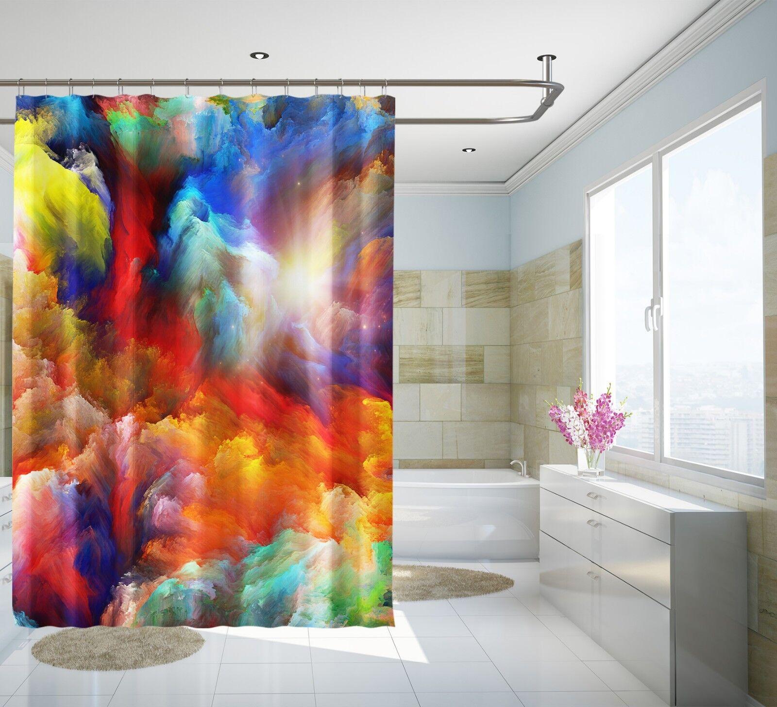 3D Farbe Graffit 65 Shower Shower Shower Curtain Waterproof Fiber Bathroom Home Windows Toilet b3e606