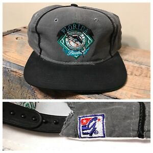 971bf358e4b Image is loading Vintage-Florida-Miami-Marlins-MLB-The-Game-Snapback-