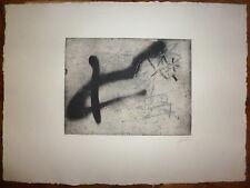 Antoni Tapies Gravure Originale Signée Art Abstrait Abstraction Lyrique Espagne