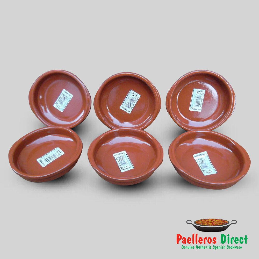 10 x 13.5cm Set of Terracotta Tapas Dishes Casserole Spanish Cazuelas Tapas