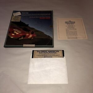 UNTESTED CIB Great American Cross-Country Road Race Commodore 64/128  Activision