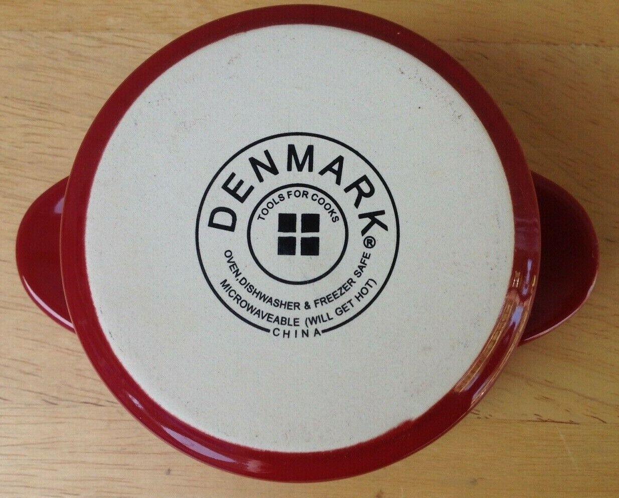 Preowned Tools for Cooks Denmark rot Stoneware Mini Lidded Ramekins Set Of 8