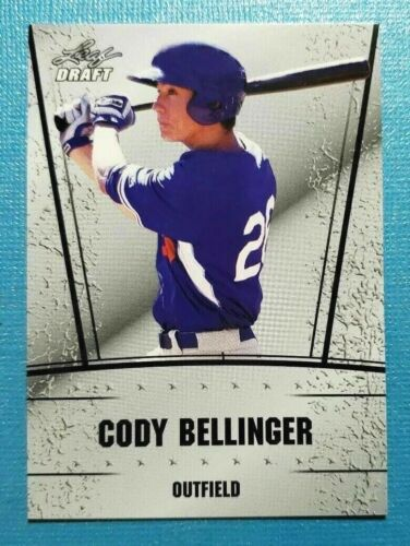 """DODGERS CODY BELLINGER 2017 /""""1ST EVER PRINTED/"""" LEAF SILVER EDITION ROOKIE CARD"""