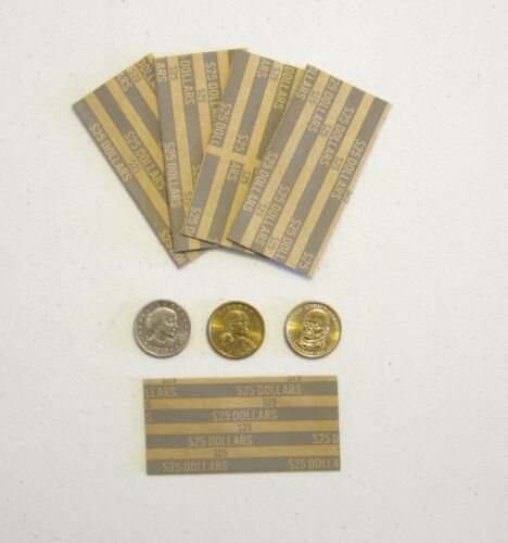 SACAGAWEA DOLLAR  /& SUSAN B ANTHONY 400 COIN WRAPPERS FOR PRESIDENTIAL DOLLARS