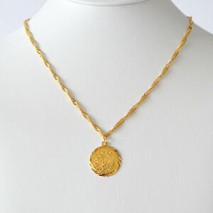 Babylonian persian coin necklace pendant men women necklaces 24k image is loading babylonian persian coin necklace pendant men amp women mozeypictures Gallery