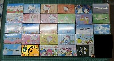 Lot Of 28 Eva Airlines Bad Badtz Hello Kitty Sanrio Caracters Playing Cards Deck