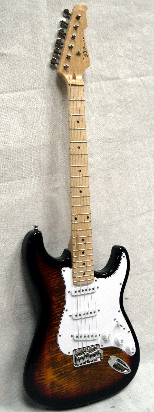 E-Gitarre Ahorn Fingerboard Tremolo PINK FLAMMED Elektrogitarre Eyecatcher
