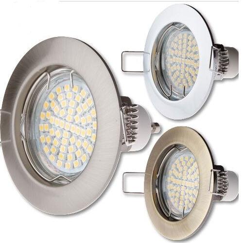 Einbaustrahler GU10 , MR16 Rahmen rund Einbaurahmen Einbauleuchte Spot LED Porto