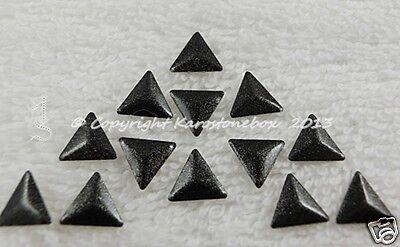 100 Hotfix Metallformen Nailheads Dreieck Schwarz Glitter Karostonebox