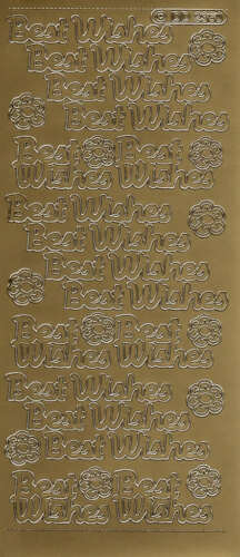 Best Wishes Peel-Off Stickers Gold DD2360