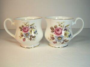 Vintage-Royal-Albert-Bone-China-Set-Of-2-Mugs-Excellent