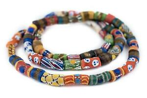 Traditional-Medley-Krobo-Beads-Long-Strand-11mm-Ghana-African-Multicolor-Mixed