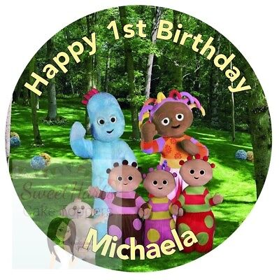 IGGLE PIGGLE Personalised Edible Cake Topper ICING //RICE PAPER Birthday All Ages