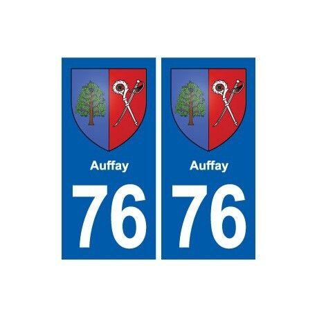 76 Auffay blason autocollant plaque stickers ville droits