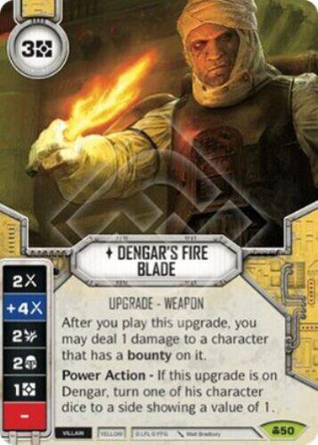 Dengar/'s Fire Blade #50 Star Wars Destiny Convergence