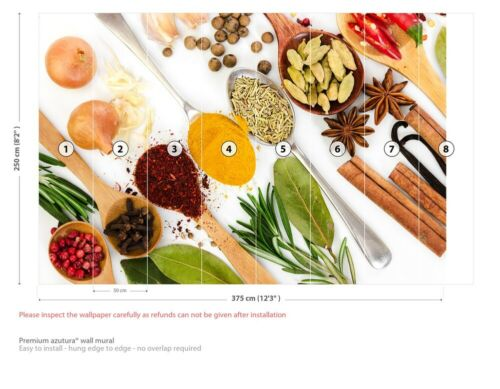 Spices /& Spoons Kitchen Wall Mural Wallpaper WS-42180