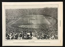 Stampa D'EPOCA / PIASTRA 1929 Encyclopedia Britannica, calcio, la ciotola YALE