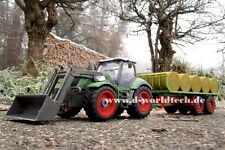 RC Farmer Traktor 5 Kanal Funk-Ferngesteuert mit Heuballen Anhänger Trecker XXL