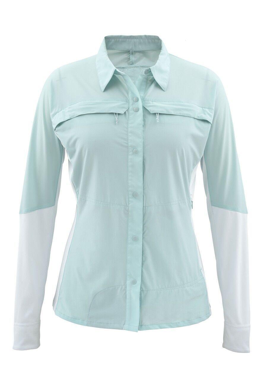 Simms Women's  PRO REINA Long Sleeve Shirt  Seafoam NEW  Medium  CLOSEOUT  2018 store