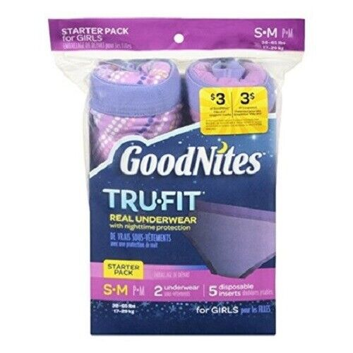GoodNites Tru-Fit Real Underwear with Nighttime Protection Starter Pack Boys//Gir