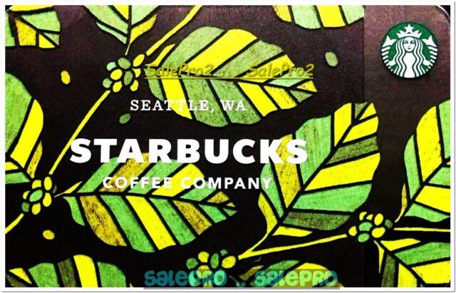 STARBUCKS COFFEE 2017 SUMMER LEAFS TEA SEATTLE WA #6149 COLLECTIBLE GIFT CARD
