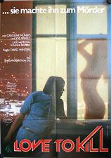 Love to Kill Filmposter A1 The Last Horror Film Caroline Munro Joe Spinell