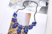Vogue Crystal Flower Necklace Charm Choker Bib Statement Chunky Collar Chain