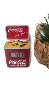 Vintage-Coca-Cola-Soda-Pop-COKE-MACHINE-CLOCK-24-Years-Old