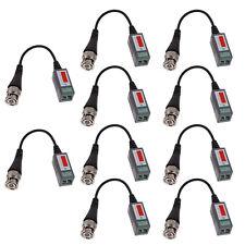 10x CCTV Camera Passive Video Balun Transceiver BNC Connector Coaxial Cable