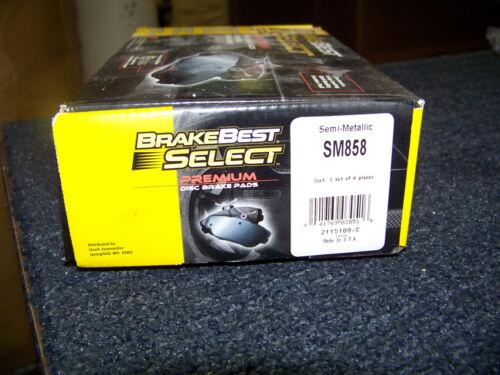 Brake Best Select Premium Disc Brake Pads Semi-Metallic # SM858 New