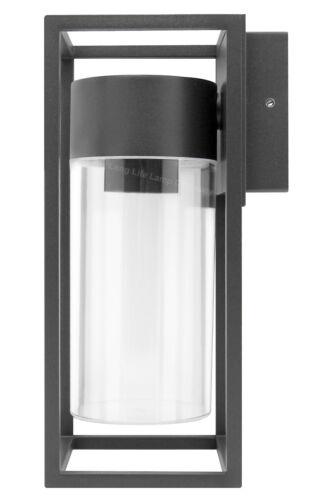 LED Rectangular Outdoor Wall Light Clear Metal Lantern Garden Wall Lamp ZLC079