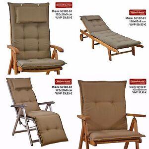 neu luxus auflagen f r hochlehner niederlehner relaxliegen und liegen uni braun ebay. Black Bedroom Furniture Sets. Home Design Ideas