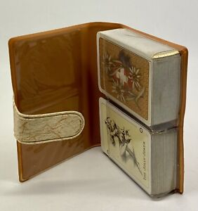 Vintage-AGM-AGMULLER-Dual-Deck-Mini-Playing-Cards-Complete-In-Carry-Case