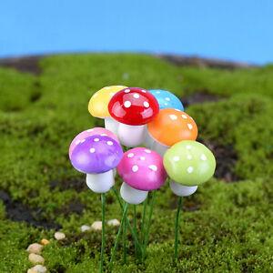 20x-Pilz-Garten-Ornament-Miniatur-Blumentopf-Fee-DIY-Dollhouse-Colour-TIYQY