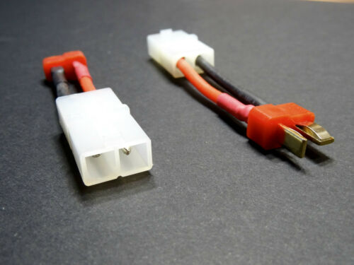 3x Adapter Ladekabel T-Dean T-Plug T-Stecker auf Tamiya Buchse Lipo Akku Kabel