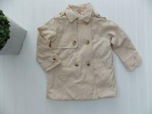 439186aec Zara Baby Girl Tan Trench Coat Jacket Butterfly Lining 12-18 Months ...
