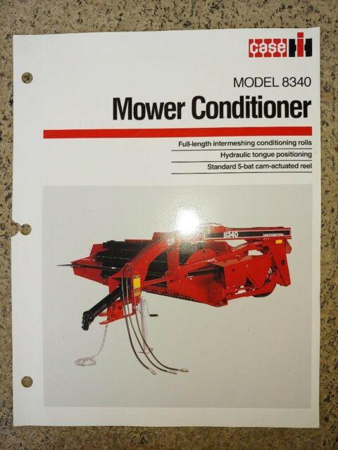 Vintage Case IH International Harvester Model 8340 Mower Conditioner Specs  Flyer
