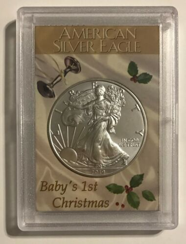 2019 AMERICAN EAGLE 1 oz .999 FINE SILVER COIN BABY/'S 1ST CHRISTMAS