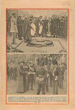 Caïd Bachaga Ben Chicha flamme Soldat inconnu Arc de Triomphe 1938 ILLUSTRATION