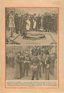 """Caïd Bachaga Ben Chicha flamme Soldat inconnu Arc de Triomphe 1938 ILLUSTRATION - France - Commentaires du vendeur : """"OCCASION"""" - France"""