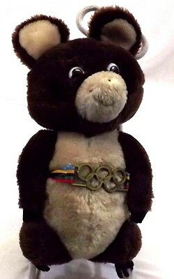 Fan Apparel & Souvenirs Olympic 13' Dakin 1980 Misha Russian Teddy Bear Mascot Missing Nose Vintage Olympics
